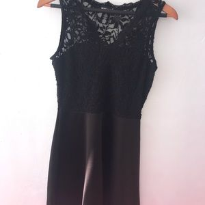 Black Wet Seal Lace Mini Dress